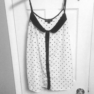 Forever 21 polka dot, button up dress tank 2X